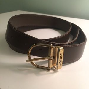 Authentic vintage Gucci brown leather belt